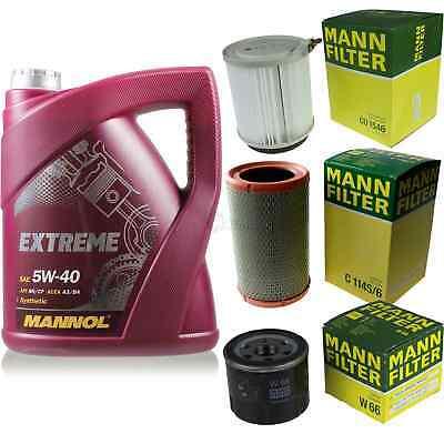 Mannol 5L Extreme Motor Oil + Mann for Nissan Kubistar X76 1.2 X80 KC0/1 _
