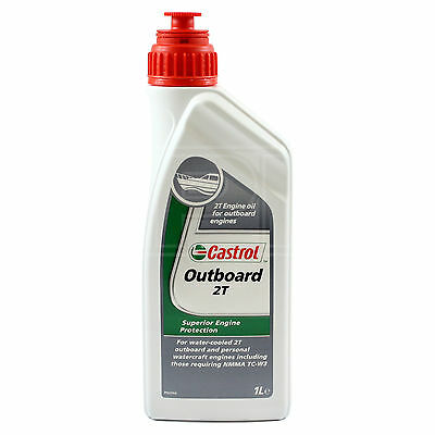 Castrol Outboard 2T Mineral Engine Oil Marine 2 stroke - boat oil - 1 Litre 1L
