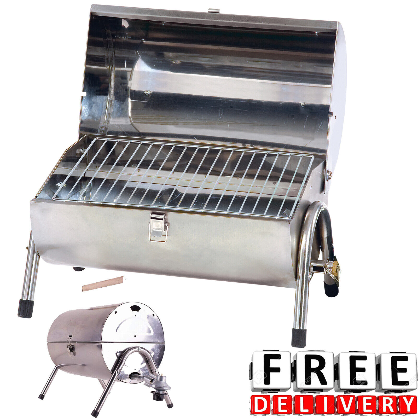 portable propane gas grill stainless steel barbecue