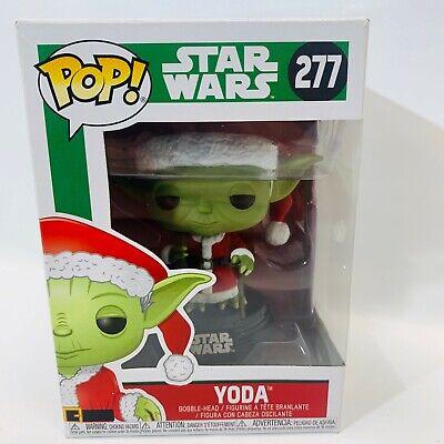 Funko POP Star Wars Yoda Christmas Edition Santa Claus Rare Full Eyes #277
