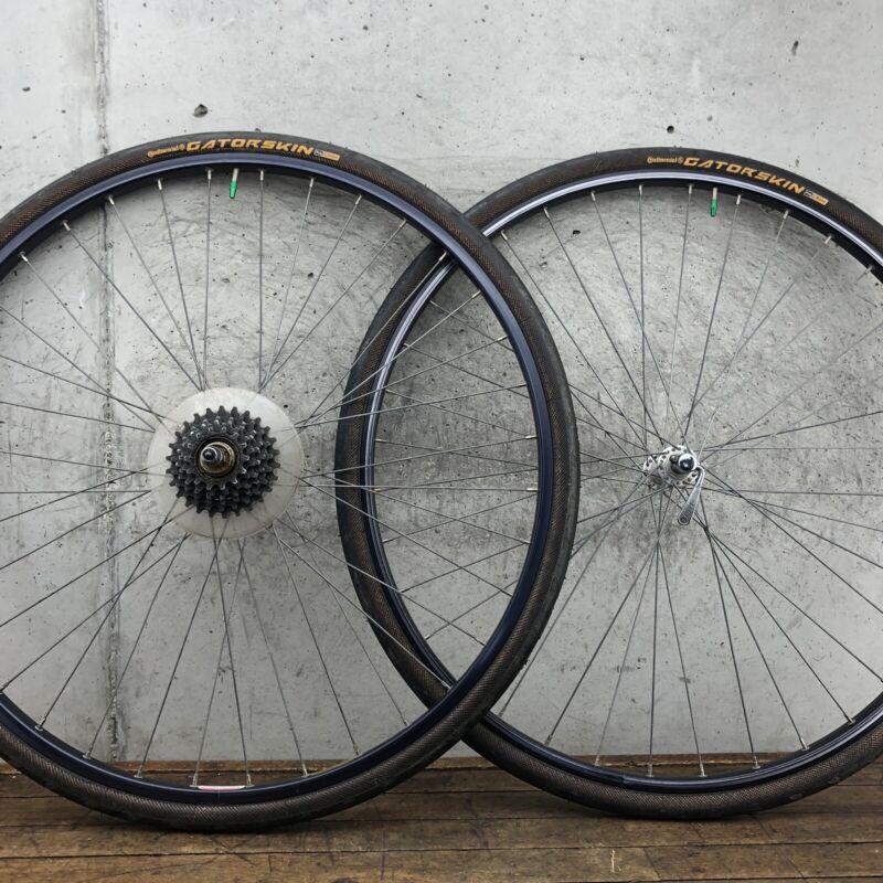 700c Wheel Set Trek Helicomatic Touring Vintage Road Bike Wheels 36h 126mm