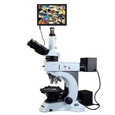 OMAX 50X-1000X 5MP Touchpad Infinity Polarizing Microscope EPI/Transmitted Light