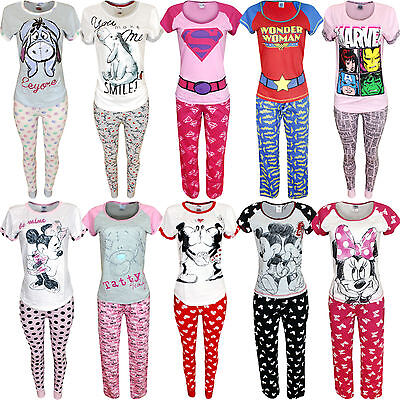 Womens Character Pyjama Set Nightwear Pjs Winter Warm Lingerie Ladies Gift