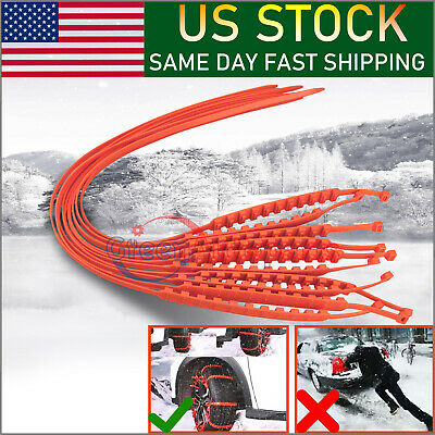 For Car Sedan SUV Snow Winter Emergency Driving Universal Anti-skid Tire Chains
