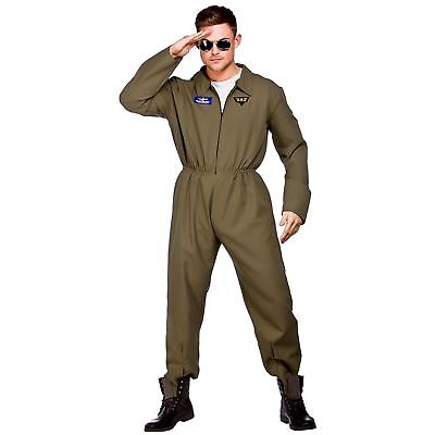 Top Shot Pilot Military Army Navy Plane Captain Adults Mens Fancy Dress Costume](Army Pilot Costume)