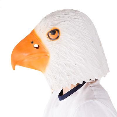 Eagle Head Costume (Full Head Eagle Latex Mask Fancy Dress Costume Halloween)