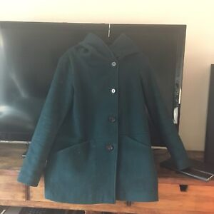 Dark Green Wool Winter Coat