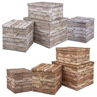 Holz Design Aufbewahrungsbox Seil Griffe mit Deckel Zusammenklappbar Nicht Klappbarer Holz-box