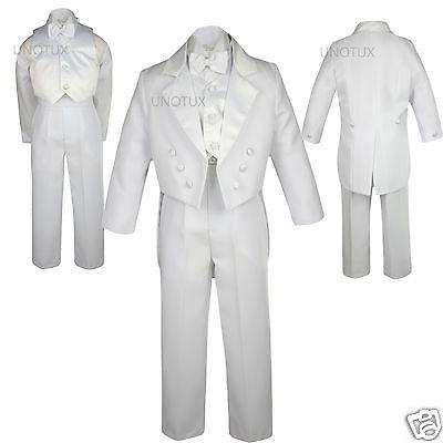 Boys Baby Toddler Teens Wedding Formal White Boy Suit Tux...