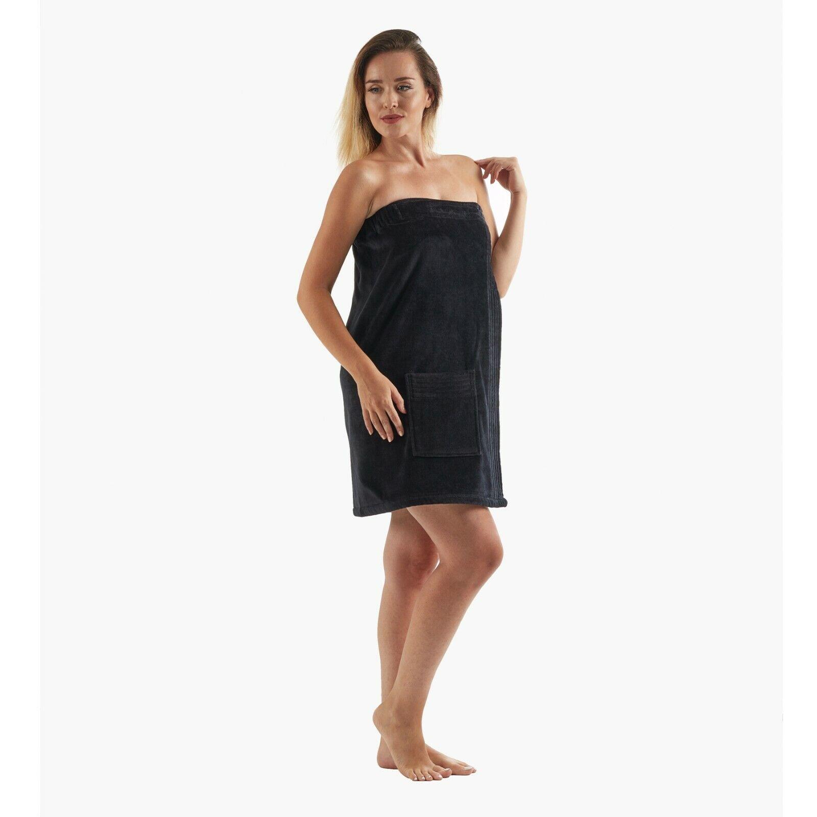 Women's 100% Organic Cotton Adjustable Towel Wraps for Spa G