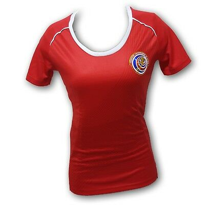 Costa Rica Women's Soccer Jersey Slim Fit 100% (Costa Rica Fitted T-shirt)