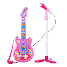 BCP 19in Kids Toddlers Musical Flash Guitar Pretend Play Toy w/ Mic, Stand