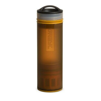 Grayl Water Purifier Ultralight Compact 16oz Bottle Coyote Amber #00488