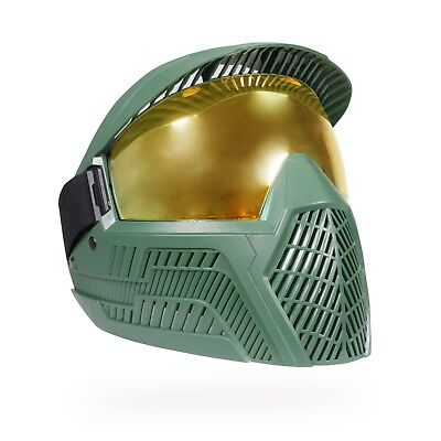 BASE Thermal Paintball Goggle / Mask - Master Chief (Thermal Gold Lens) - Master Chief Mask