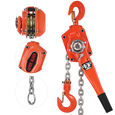 3T 6600lb Lift Lever Block Chain Hoist Comealong Lift Puller 3Ton 5 Ton Lever Chain Hoist