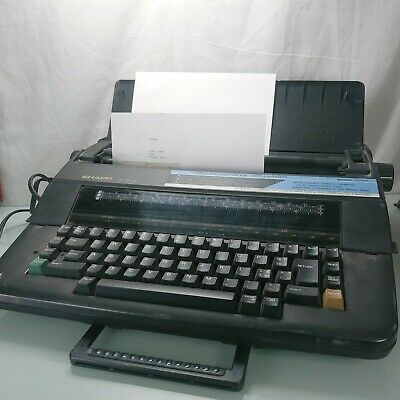 Sharp Pa 3100 Ii Portable Electronic Intelliwriter Typewriter Tested Working