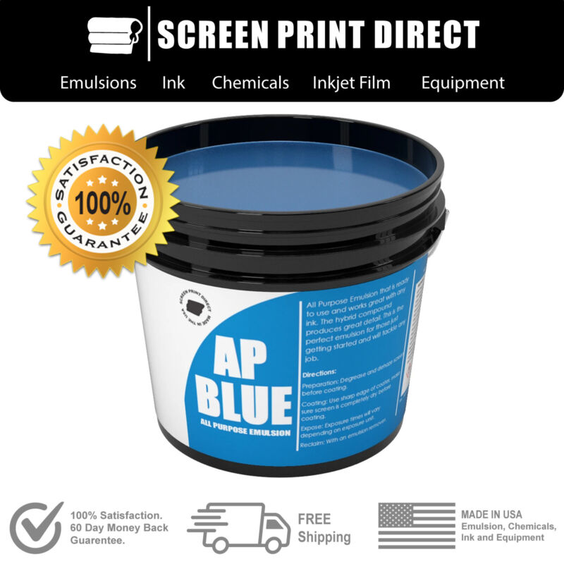 Ecotex® AP-BLUE All Purpose Ready to Use Screen Printing Emulsion -1 Pint 16 oz