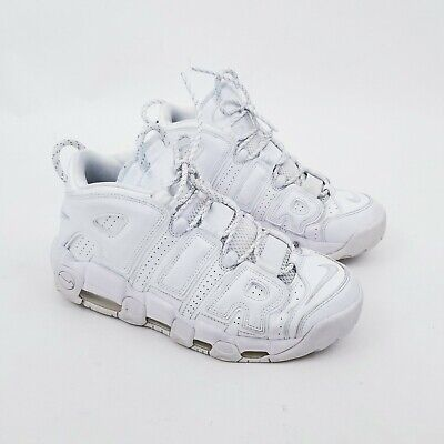 Nike Air More Uptempo Triple White Shoes Mens Size 8.5 Triple White *READ*