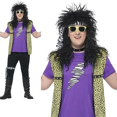80s Outfit Male (Mens 1980's plus size Rock Star costume male adult 80s rocker dressing up)