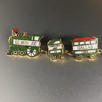 Lions Club Pin District Brass Collectible Lapel Pin Penna Lodge 14 Dallas 1985