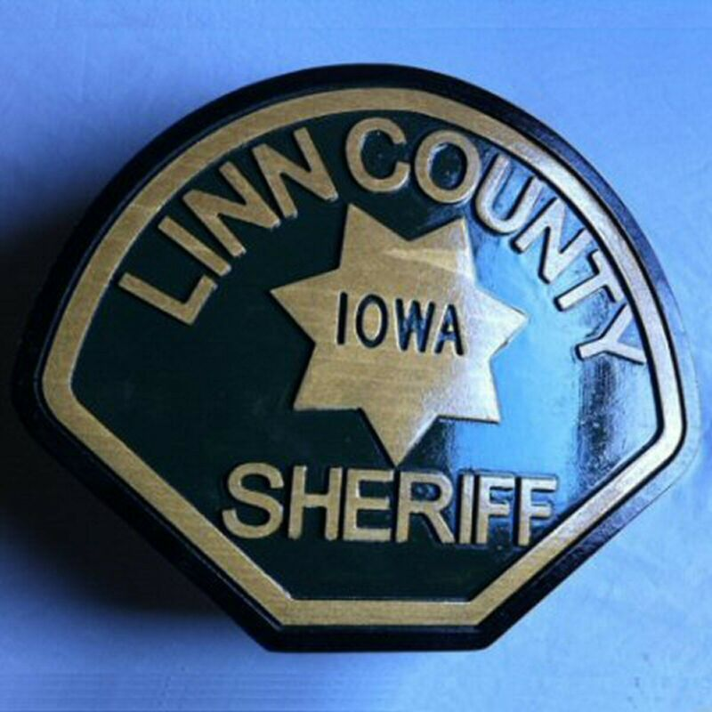 Police Department Linn County 3D routed wood  patch plaque sign Custom