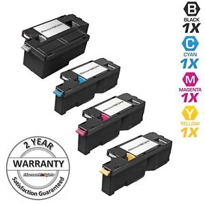 4pk Comp Toner Cartridge Set for Xerox Phaser 6000 6010 WorkCentre 6015 Color