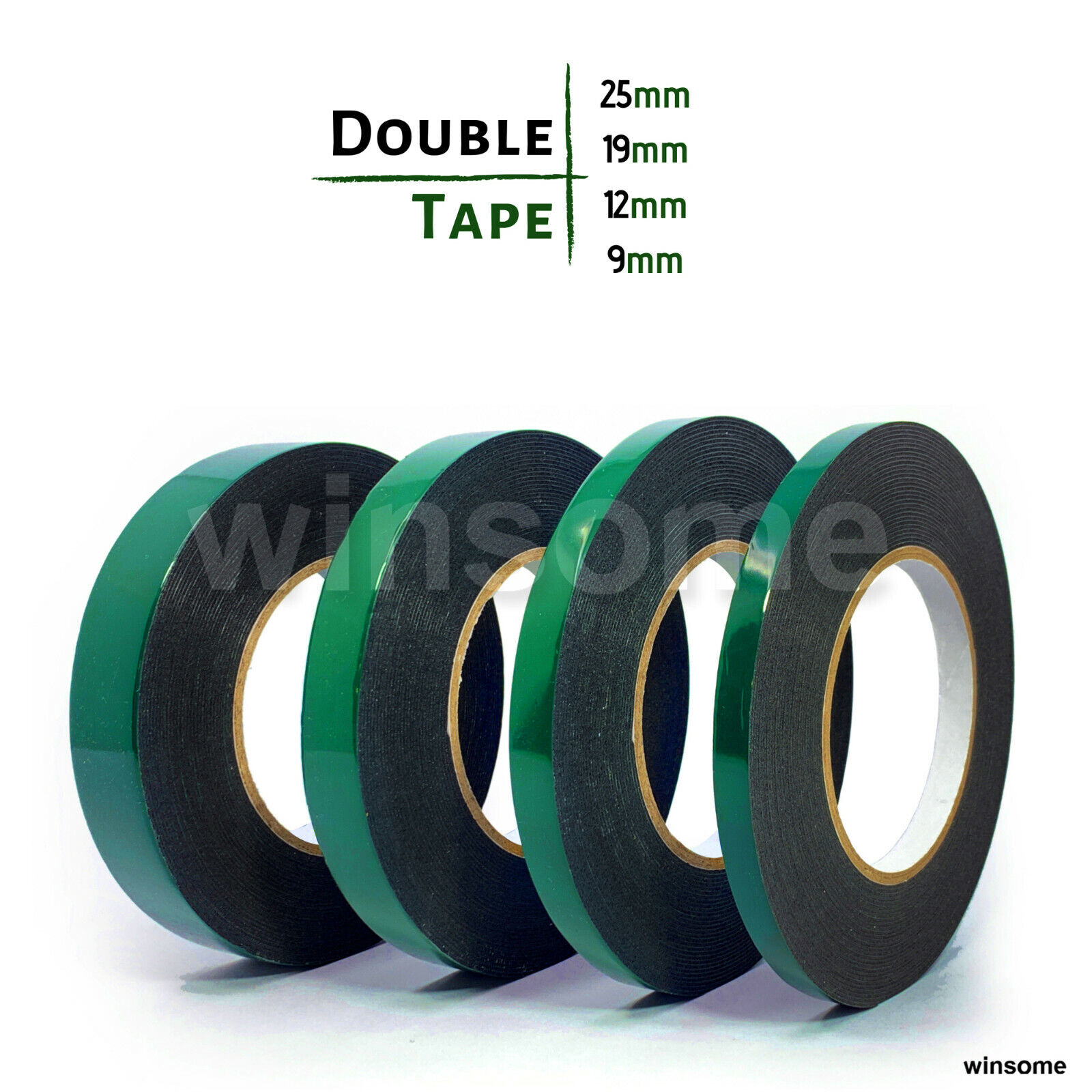Acrylic Double Sided Sticky Adhesive Tape Strong No Trace Foam Sponge Craft BE