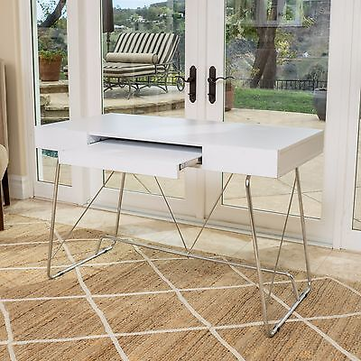 Denise Austin Home Lauren Off-white Wood Computer Desk with Keyboard Tray