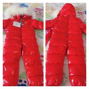 Kids MONCLER downfield waterproof snowsuits 5/6yrs and 6/7 yrs