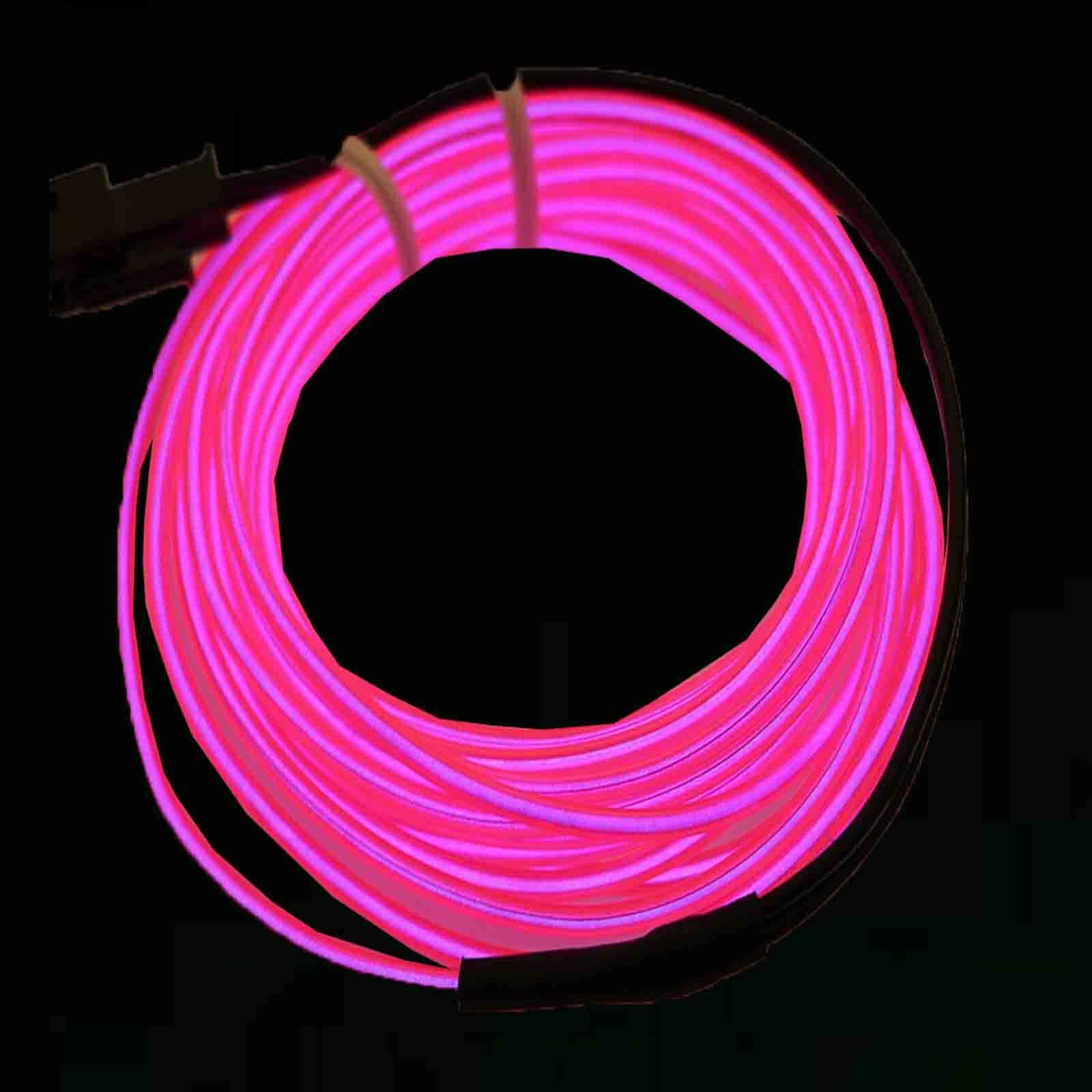 Neon Led Light Glow El Wire String Strip Rope Decor Car Party Controller 4 65 Lights Fairy