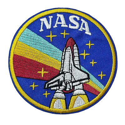 Retro NASA Shuttle Embroidered Patch Iron/Sew-On Applique Space Explorer Planets