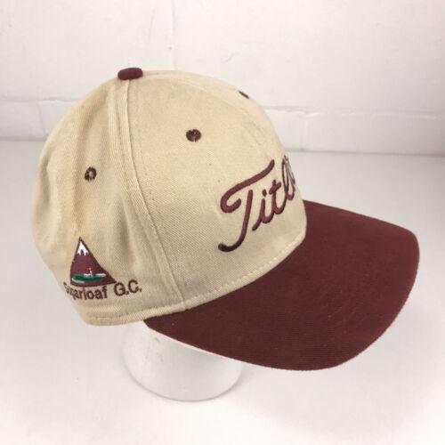 Vintage Titleist Sugarloaf USA ski Golf Course hat cap Made USA New Era hbx63