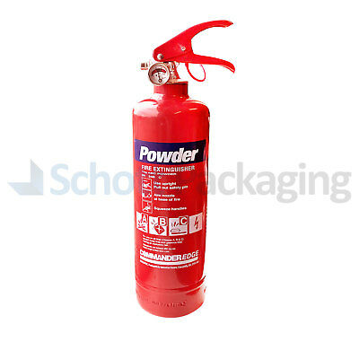 1KG POWDER ABC FIRE EXTINGUISHER HOUSE CAR BOAT OFFICE (PLUS WALL MOUNT/BRACKET)