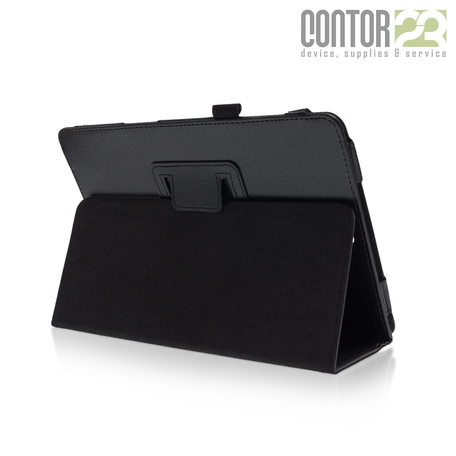 """Tablet Schutzhülle Tasche Case SCHWARZ [9.7"""" Samsung Galaxy Tab A SM-T550/T555]"""