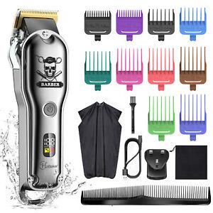 HATTEKER Hair Clipper Mens Beard Trimmer Professional Hair Cutter Kit Cordless