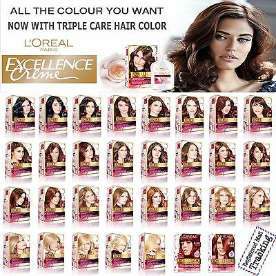 Triple Care Creme (L'OREAL PARIS EXCELLENCE CREME - TRIPLE CARE HAIR COLOR - 31 DIFFERENT SHADES)