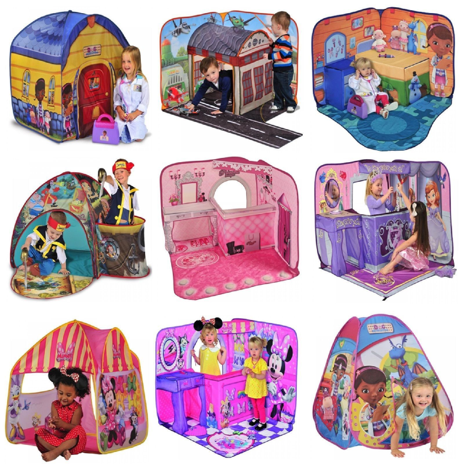 Disney Cartoon Character Pop Up Play Tent Or 3d Play Scape