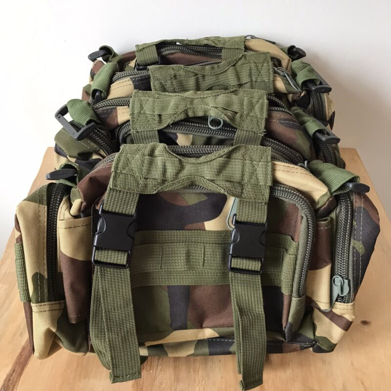 Joblot 4 Outdoor Camouflage Survival Kit Utility Belt Pouch Hiking Camping