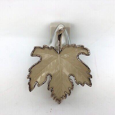 - Rare Bath & Body Works Cream Gold Maple Leaf Wallflowers Plug  Diffuser