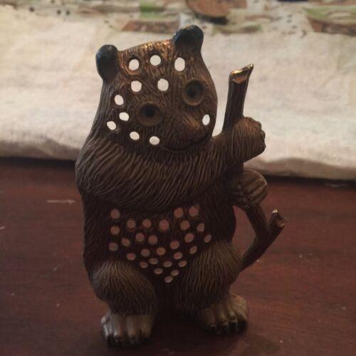 Vintage Metal Panda Bear Earring Holder