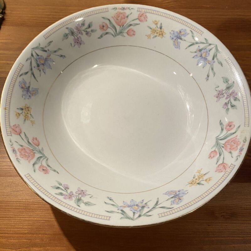 Tienshan Fine China Serving Bowl Jardin Pattern 9.5 Inches