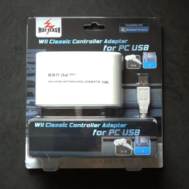 Wii Classic Controller Pro Nunchuk to PC Mac PS3 USB adapter Mayflash for 2 Port