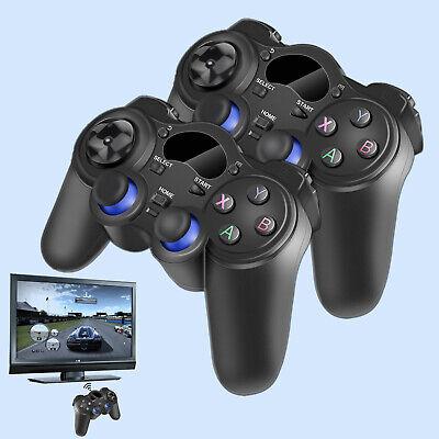 2x 2.4G Wireless Game Controller Gamepad für PS3 Android TV Box Tablet Schwarz ()