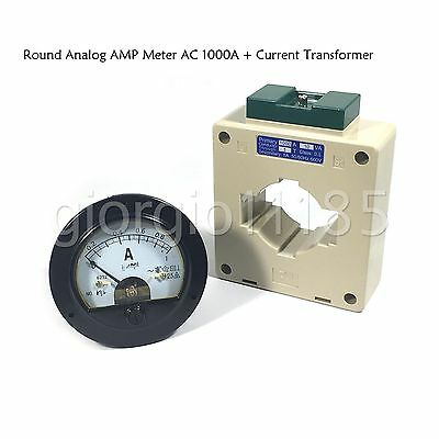 Us Stock Ac 01000a Analog Amp Current Panel Meter Ammeter Current Transformer