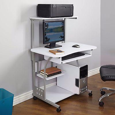 Desk Computer Table w/ Printer Shelf  Home Office Laptop Student Furniture NEW