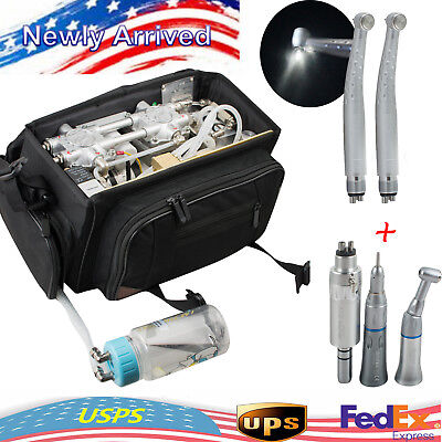Portable 410w Dental Turbine Unit Oillessair Compressor Suction System