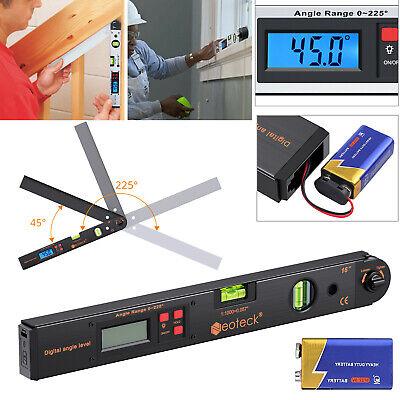 Electronic Digital Level Angle Finder Goniometer Protractor Gauge Ruler 0225