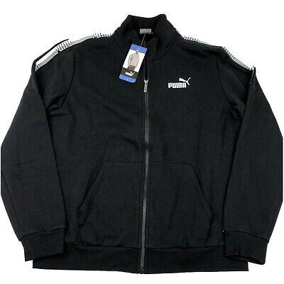 PUMA Men's Full Zip Track Jacket Black Large XL