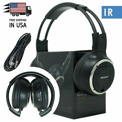New Infrared Wireless Single Channel For Car DVD MP3 IR Headphone Headset 50WH Channel Infrared Wireless Headphones