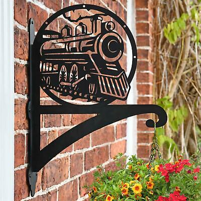 New Steam Train Iron Hanging Basket Bracket - 48cm x 33cm